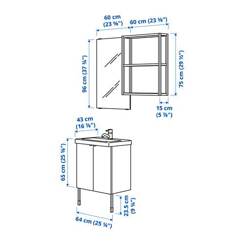 TVÄLLEN/ENHET - bathroom furniture, set of 11, white/anthracite Pilkån tap | IKEA Hong Kong and Macau - PE783364_S4