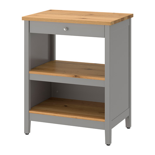 TORNVIKEN - 廚房工作檯, 灰色/橡木 | IKEA 香港及澳門 - PE684548_S4