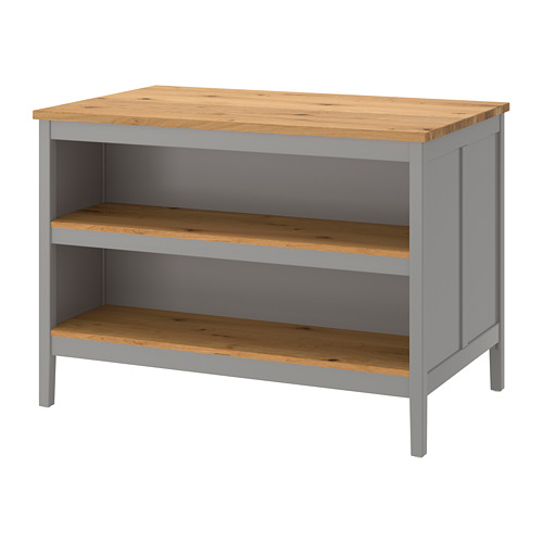 TORNVIKEN - 廚房工作檯, 灰色/橡木   IKEA 香港及澳門 - PE684544_S4