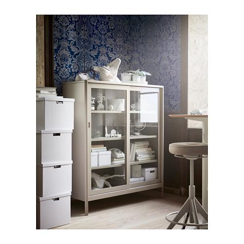 IDÅSEN - cabinet with sliding glass doors, beige | IKEA Hong Kong and Macau - PH154772_S4
