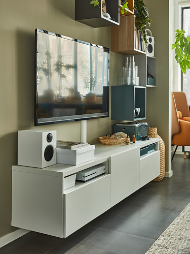 BESTÅ - TV bench, white/Lappviken white | IKEA Hong Kong and Macau - PH176255_S4