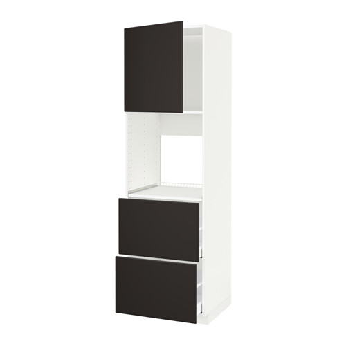 METOD/MAXIMERA - hi cab f ov w dr/2 frnts/2 hi drwrs, white/Kungsbacka anthracite | IKEA Hong Kong and Macau - PE636162_S4