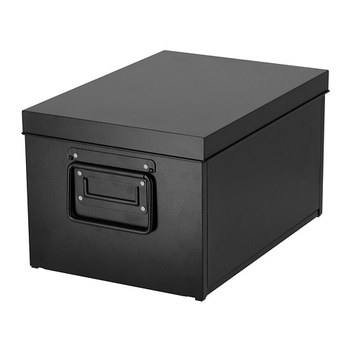 MANICK - box with lid, black | IKEA Hong Kong and Macau - PE727012_S4