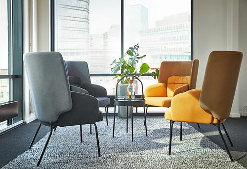 BINGSTA - high-back armchair, Vissle dark yellow/Kabusa dark yellow | IKEA Hong Kong and Macau - PE771103_S4