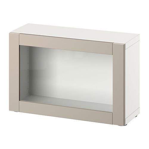 BESTÅ - 層架組合連門, white/Sindvik light grey/beige   IKEA 香港及澳門 - PE827692_S4