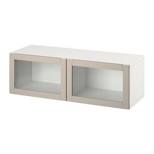 BESTÅ - 上牆式貯物組合, white/Sindvik light grey-beige   IKEA 香港及澳門 - PE827700_S4
