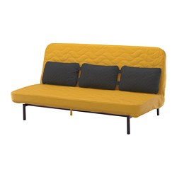 NYHAMN - sofa-bed with triple cushion, with pocket spring mattress/Skiftebo yellow | IKEA Hong Kong and Macau - PE727078_S3