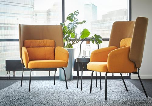 BINGSTA - high-back armchair, Vissle dark yellow/Kabusa dark yellow | IKEA Hong Kong and Macau - PE771120_S4
