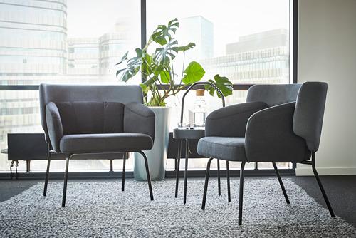 BINGSTA - 扶手椅, Vissle 深灰色/Kabusa 深灰色 | IKEA 香港及澳門 - PE771124_S4