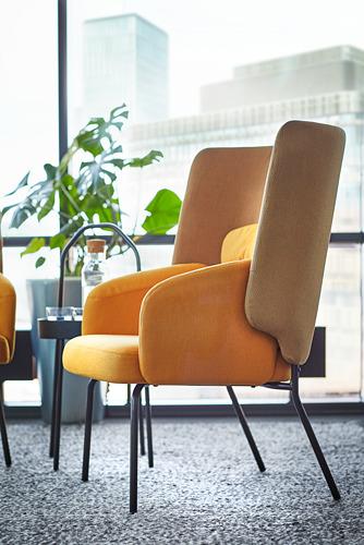 BINGSTA - high-back armchair, Vissle dark yellow/Kabusa dark yellow | IKEA Hong Kong and Macau - PE771143_S4