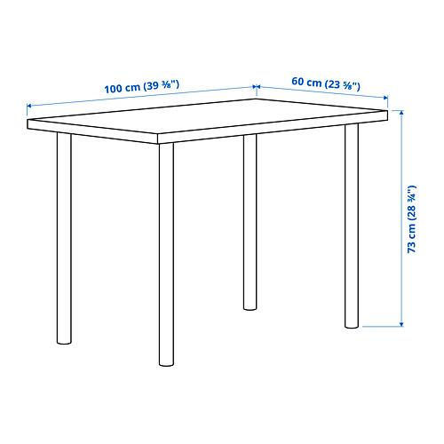 ADILS/LINNMON - 書檯, 染白橡木紋/深灰色 | IKEA 香港及澳門 - PE827741_S4
