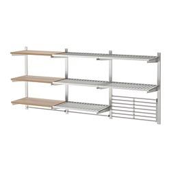KUNGSFORS - 廚具架組合, 不銹鋼/梣木飾面   IKEA 香港及澳門 - PE727173_S3