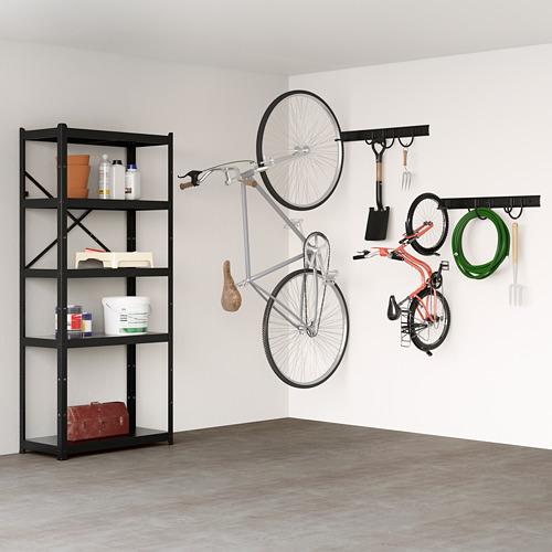 BROR - shelving unit, 85x40x190 cm, black | IKEA Hong Kong and Macau - PE712310_S4