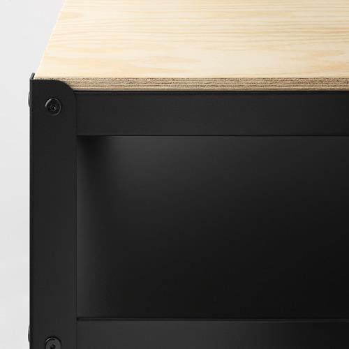 BROR - 工作檯, 55x110x88 cm, 黑色/松木夾板   IKEA 香港及澳門 - PE689012_S4