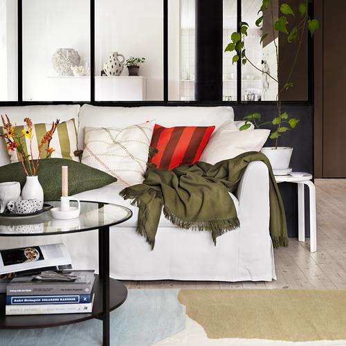 HILDAMARIA - cushion cover, green natural/striped | IKEA Hong Kong and Macau - PE827856_S4