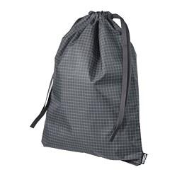 RENSARE - 繩袋, 方格圖案/黑色 | IKEA 香港及澳門 - PE771287_S3