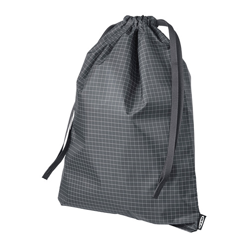 RENSARE - 繩袋, 方格圖案/黑色 | IKEA 香港及澳門 - PE771287_S4