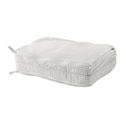 RENSARE - clothes bag with compartment, check pattern/white | IKEA Hong Kong and Macau - PE771288_S3
