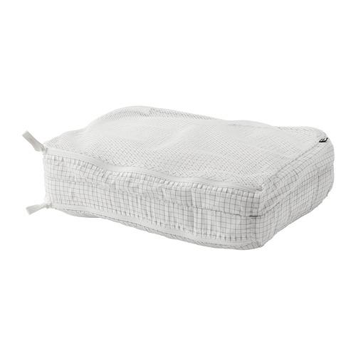 RENSARE - 衣物收納袋連間隔, 方格圖案/白色 | IKEA 香港及澳門 - PE771288_S4