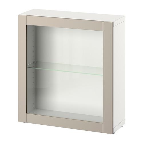 BESTÅ - 層架組合連門, white/Sindvik light grey/beige | IKEA 香港及澳門 - PE828067_S4