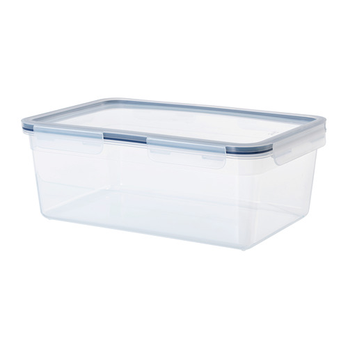 IKEA 365+ - food container with lid, rectangular/plastic, 5.2L | IKEA Hong Kong and Macau - PE684962_S4