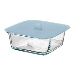 IKEA 365+ - food container with lid, square glass/silicone, 600ml   IKEA Hong Kong and Macau - PE684990_S3