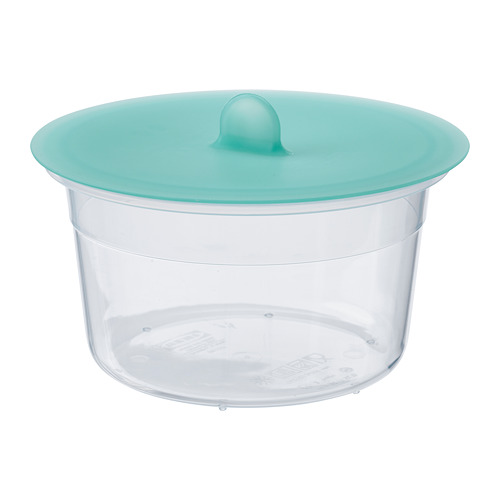 IKEA 365+ - food container with lid, round plastic/silicone, 750ml | IKEA Hong Kong and Macau - PE685011_S4