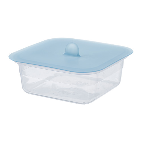 IKEA 365+ - food container with lid, square plastic/silicone, 750ml | IKEA Hong Kong and Macau - PE685028_S4