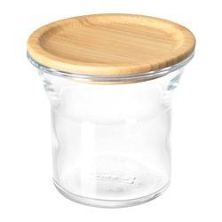 IKEA 365+ - jar with lid, glass/bamboo, 1L | IKEA Hong Kong and Macau - PE685051_S3