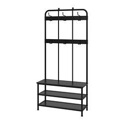 PINNIG - 長凳連鞋架及衣帽架, 黑色 | IKEA 香港及澳門 - PE727714_S3
