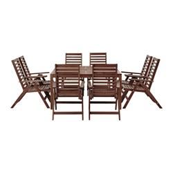 ÄPPLARÖ - 餐檯連8張躺椅組合, 戶外 染褐色   IKEA 香港及澳門 - PE513325_S3