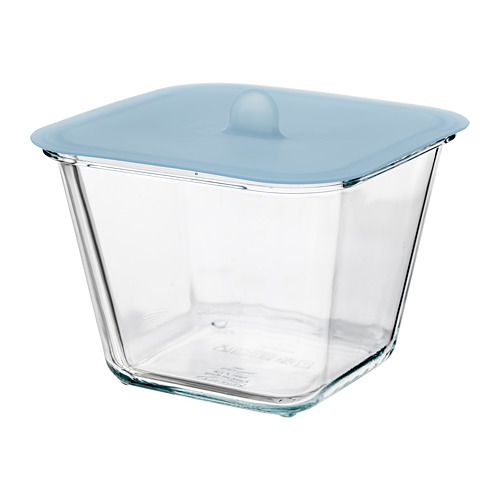 IKEA 365+ - food container with lid, square glass/silicone, 1.2L | IKEA Hong Kong and Macau - PE685095_S4