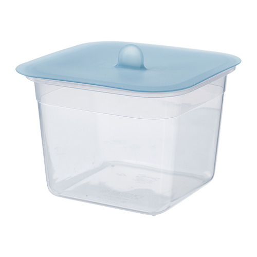 IKEA 365+ - food container with lid, square plastic/silicone, 1.4L | IKEA Hong Kong and Macau - PE685096_S4