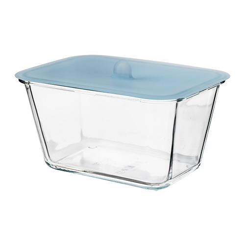 IKEA 365+ - food container with lid, rectangular glass/silicone, 1.8L | IKEA Hong Kong and Macau - PE685098_S4