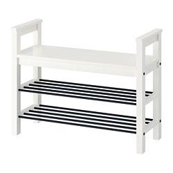 HEMNES - bench with shoe storage, white | IKEA Hong Kong and Macau - PE727751_S3