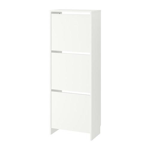 BISSA - 三格鞋櫃, 白色 | IKEA 香港及澳門 - PE727765_S4
