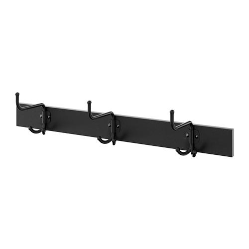 PINNIG - rack with 3 hooks, black   IKEA Hong Kong and Macau - PE727809_S4