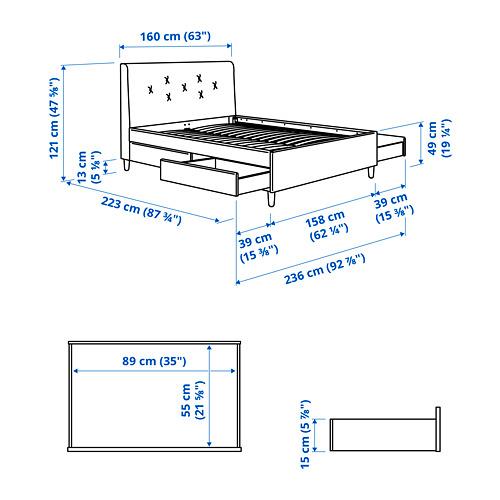 IDANÄS - 特大雙人儲物床, Gunnared 深灰色 | IKEA 香港及澳門 - PE828264_S4
