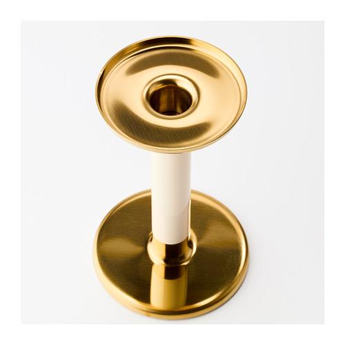 GLITTRIG - 燭台,3 件套裝, 象牙色/金色 | IKEA 香港及澳門 - PE685231_S4