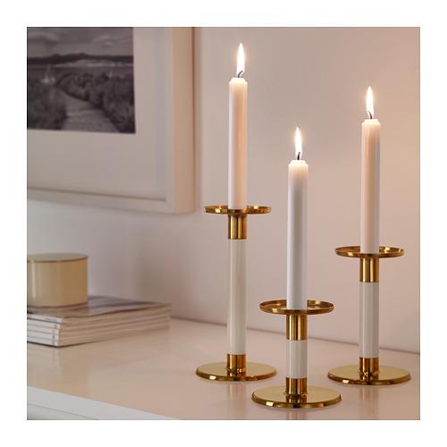 GLITTRIG - 燭台,3 件套裝, 象牙色/金色 | IKEA 香港及澳門 - PE685232_S4