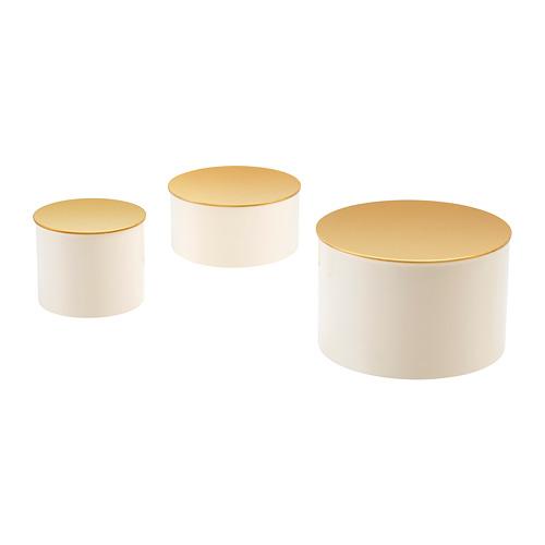 GLITTRIG 盒形裝飾,3件套裝