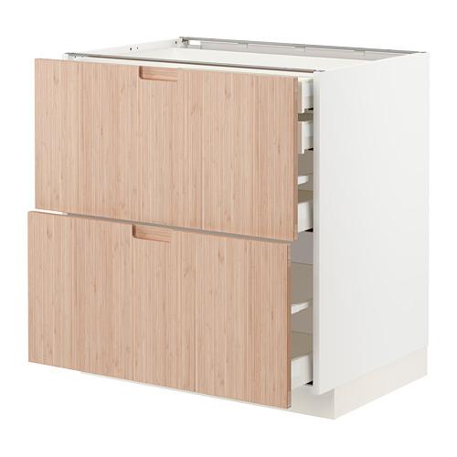 METOD/MAXIMERA - 廚櫃組合, 白色/Fröjered 淺色竹   IKEA 香港及澳門 - PE771496_S4