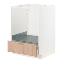 METOD/MAXIMERA - 焗爐地櫃連抽屜, white/Fröjered light bamboo | IKEA 香港及澳門 - PE771527_S3