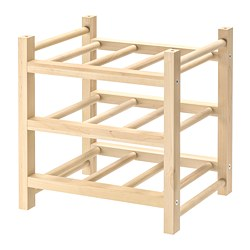 HUTTEN - 9-bottle wine rack, solid wood | IKEA Hong Kong and Macau - PE727966_S3