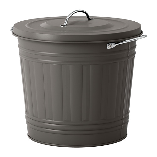 KNODD - bin with lid, grey | IKEA Hong Kong and Macau - PE728018_S4