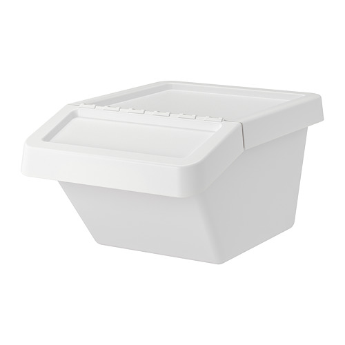 SORTERA waste sorting bin with lid