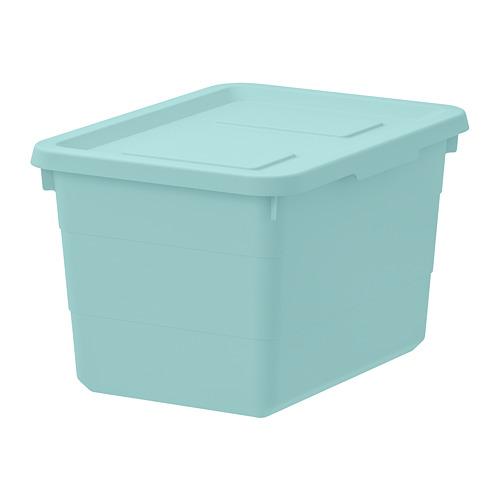 SOCKERBIT - storage box with lid, light blue | IKEA Hong Kong and Macau - PE728053_S4