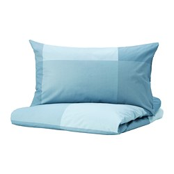 BRUNKRISSLA - quilt cover and 2 pillowcases, light blue, 200x200/50x80 cm  | IKEA Hong Kong and Macau - PE772164_S3