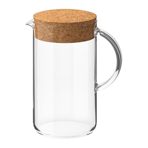 IKEA 365+ - jug with lid, clear glass/cork | IKEA Hong Kong and Macau - PE728114_S4