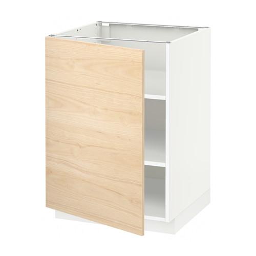 METOD - base cabinet with shelves, white/Askersund light ash effect | IKEA Hong Kong and Macau - PE637828_S4